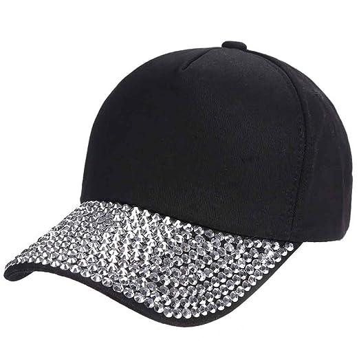 213eff81c6a ZTL Glitter Rhinestone Baseball Cap Fashion Jeans Denim Cap Outdoor Sun Hat  Black