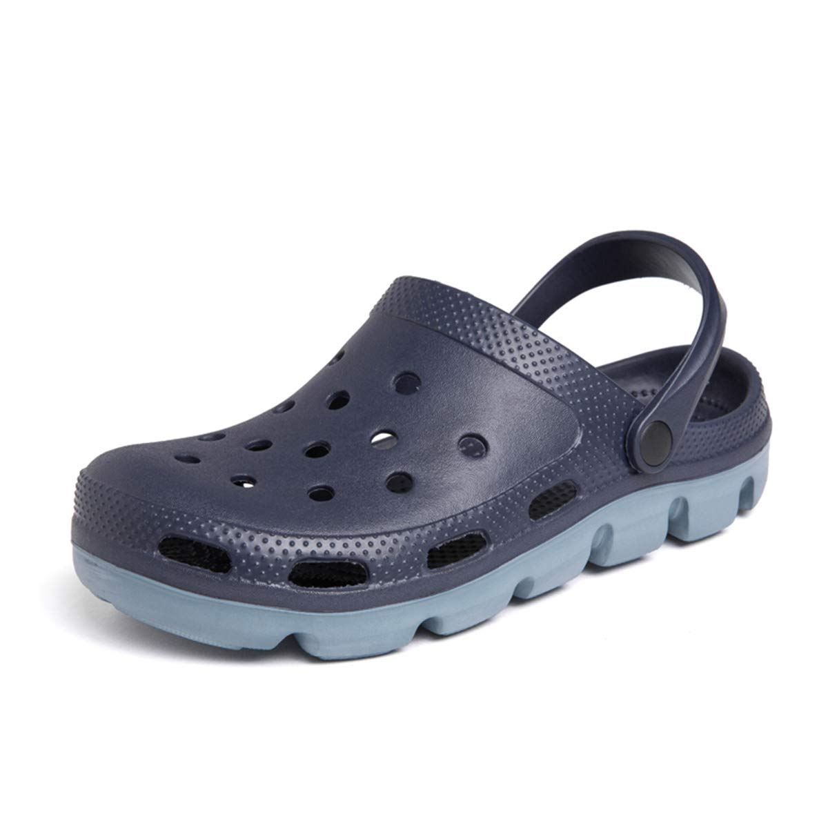 HSBUY Men's Clogs Slip on Water Shoes Casual Summer Clog Classic Clog Shoes Comfort Garden Anti Slip Black