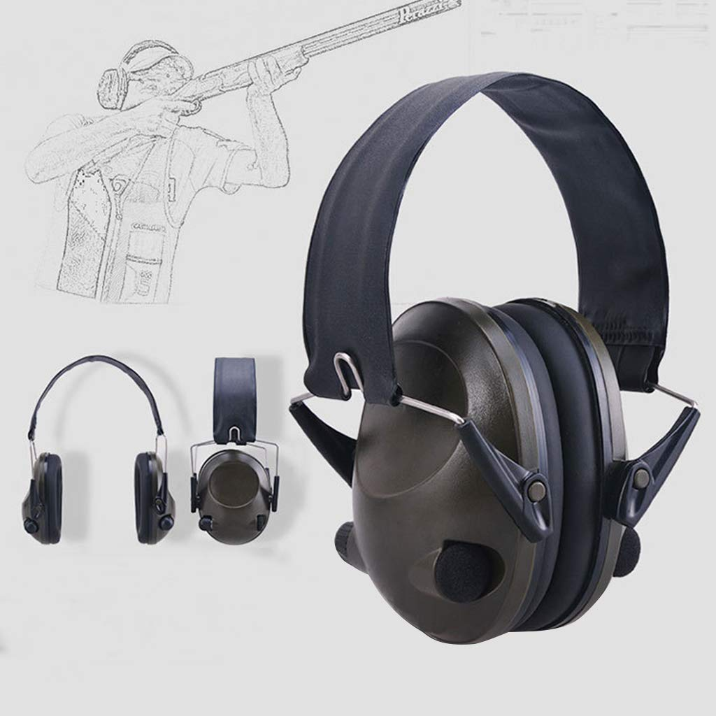 EATS Outdoor Military Electronic Hearing Protector Noise Canceling Ear Muffs Shooting Tactical Headset (Army green)