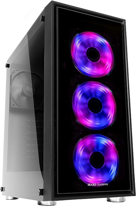 Mars Gaming MC7, caja PC Micro ATX, 3 ventiladores frontales RGB 12cm,: Mars-Gaming: Amazon.es: Informática
