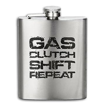 Gas embrague Cambio repetición petaca portátil bolsillo petaca de acero inoxidable Flagon Petaca de bolsillo caja de regalo) ruso Flagon: Amazon.es: Hogar