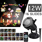 Christmas Projector Light SIEGES Christmas Decoration Projector Lamp 16 Patterns Slides Waterproof LED Spotlight Landscape Lights with Remote Control for Home Garden Festival