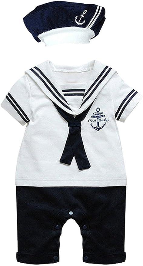 Le SSara Court/b/éb/é/gar/çons//à manches/barboteuse/ancre/marine/Toddle/Jumpsuits