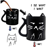 cat mug funny mug with quotes i do what i want heat