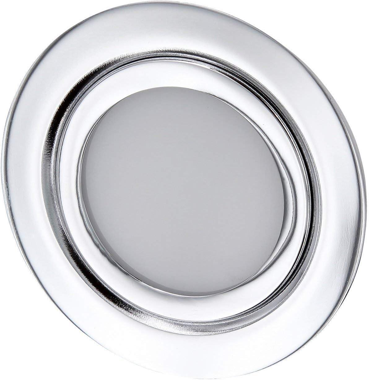 Foco empotrable LED fino para muebles, completo de metal, IP44,12V,adecuado para caja de 60mm de diámetro,blanco diurno (4000K)