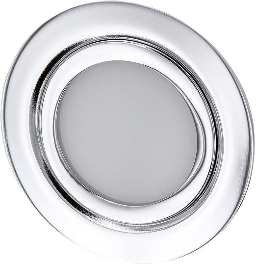 Foco empotrable LED fino para muebles, completo de metal, IP44, 12 V, adecuado para caja de 60 mm de diámetro, blanco diurno (4000 K): Amazon.es: Iluminación