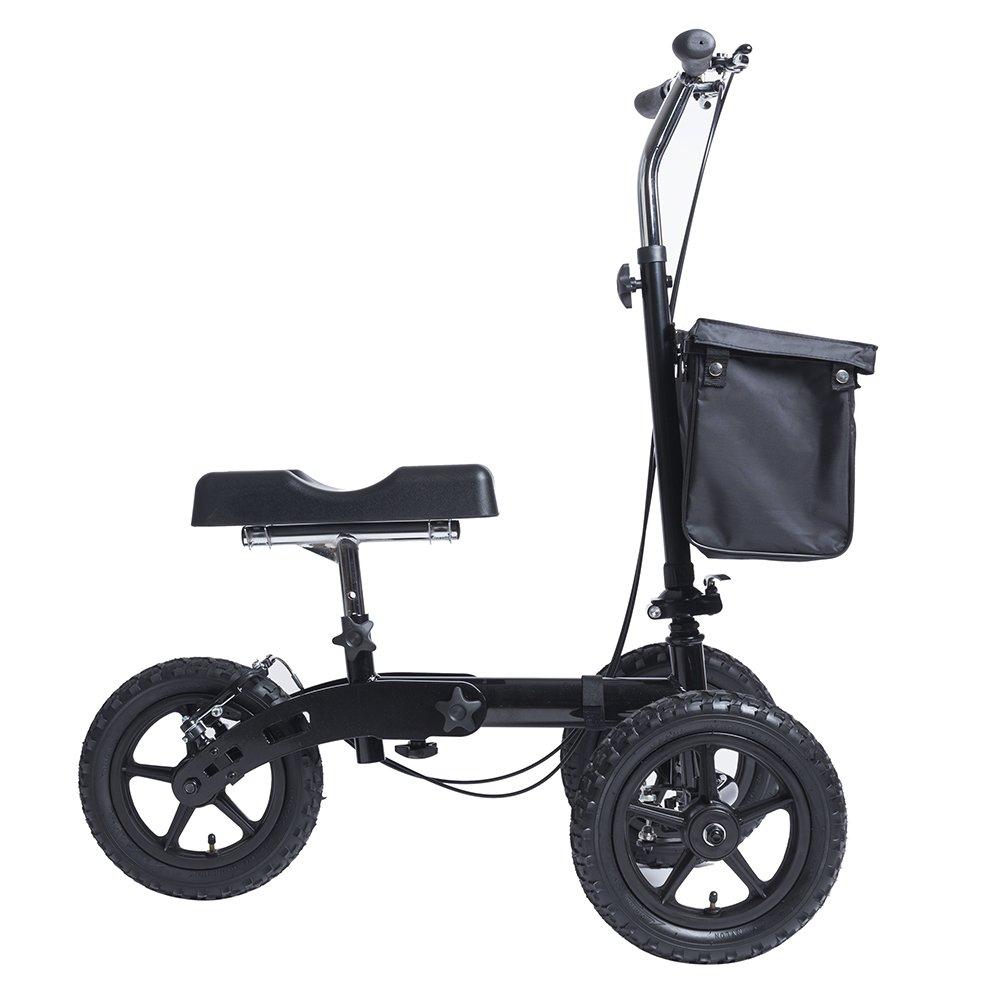 Amazon.com: ELENKER all-Road Dirigible Rodilla Scooter ...