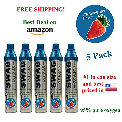 Flavored Oxygen Cans (Strawberry) (5 Pack)