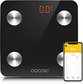 ADORIC - Báscula digital de grasa corporal, báscula de peso ...