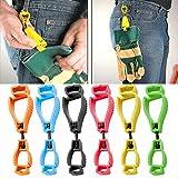 WensLTD Portable Glove Clip Holder Hanger Guard Labor Work Clamp Grabber Catcher Safety Work Hot (Red)