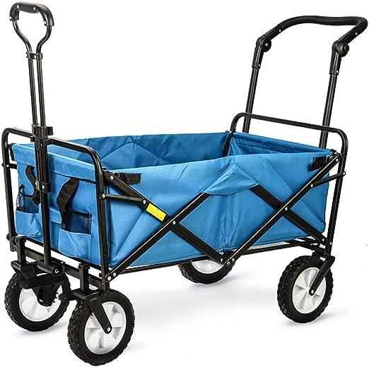 Carrito de jardín Carrito de jardín Plegable Resistente Carrito de Carro Plegable Carretilla de Carro 85 x 50 x 28 CM: Amazon.es: Hogar