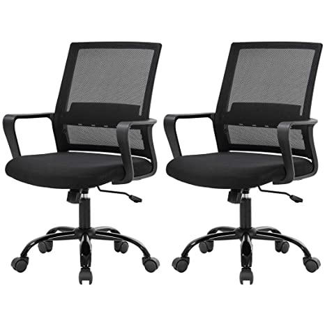 【NEW】360°Adjustable Swivel Office Mesh Chair Computer Desk Sponge Padded Seat