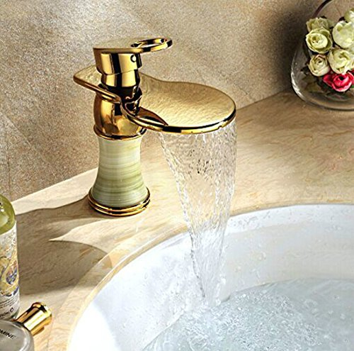 MDRW-Creative emerald bathroom faucet, hot and cold waterfall washbasin faucet by MDRW