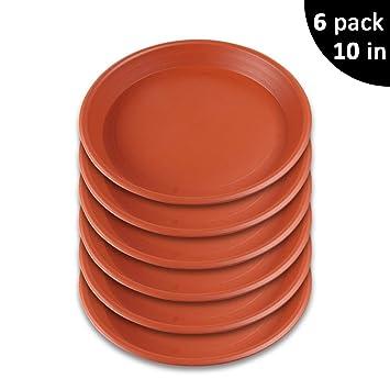 Amazon Com Growneer 6 Pack 10 Inch Plant Saucer Drip Trays Round
