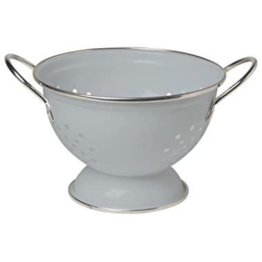 Now Designs Metal Colander, 1-Quart, Grey