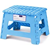 ACSTEP Acko Folding Step Stool Lightweight Plastic Step Stool,9 inch Foldable Step Stool for Kids,Non Slip Folding…