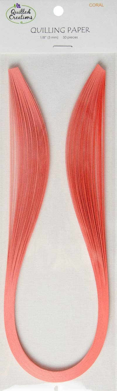 Quilled Creations 1046 Quilling Paper .125'' (50 Per Pack) Coral by Quilled Creations