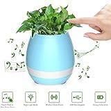 Bocina bluetooth macetero inteligente con luz led melodías que se activan al tocar la planta