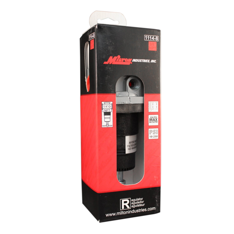 Milton 1114-8 3/8'' NPT High Pressure FRL Regulator by Milton Industries
