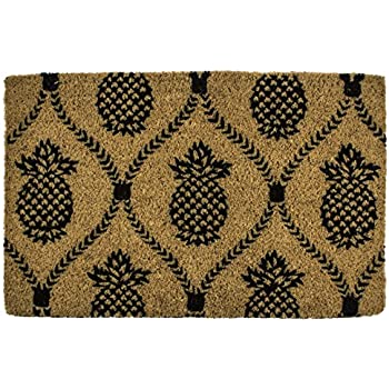 Amazon Com Entryways Pineapple Hand Stenciled All