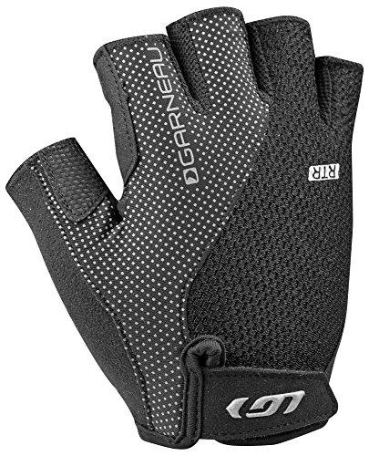 Louis Garneau Women's Air Gel + RTR Padded, Breathable, Half Finger Bike Gloves, Black, Small