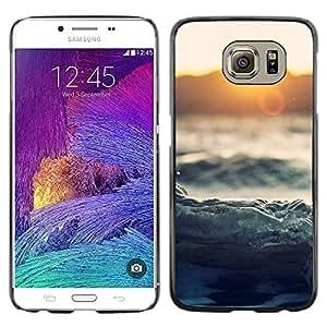 iKiki Tech / Estuche rígido - Waves Sunset Sea Ocean Horizon Magical - Samsung Galaxy S6 SM-G920