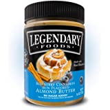 Legendary Foods Flavored Almond Butter   Keto Diet Friendly, Low Carb, No Sugar Added, Vegan   Blueberry Cinnamon Bun (16oz Jar)