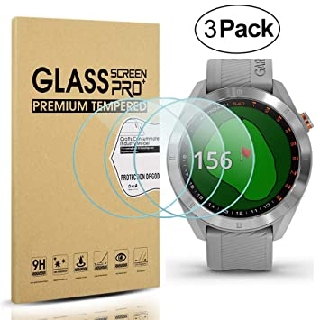 Diruite 3-Pack for Garmin Approach S40 Screen Protector Tempered Glass [2.5D 9H Hardness] [Anti-Scratch] [Bubble-Free] - Permanent Warranty ...