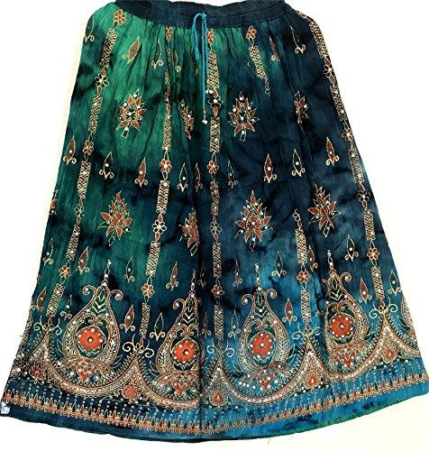 Maxi Gonna Hippie Colorful Zingaresco 39 Womans Ventre Indiano Signore Sundress Estate Boho Paillettes Del Danza zxz4UqC