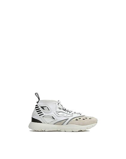 Valentino Garavani Hombre Py0s0a71squ0ni Blanco Poliamida Zapatillas: Amazon.es: Zapatos y complementos