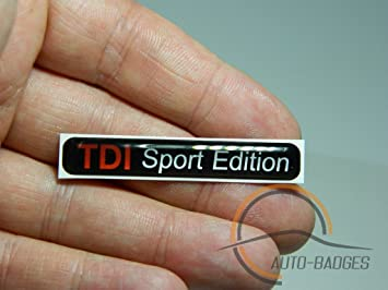 Tdi Sport Edition Badge Emblem Amazon Co Uk Car Motorbike