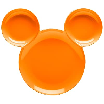 Zak Mickey Mouse Ear Kids Plates 8.3 Inches Length x 0.3 Inches Width x 8.1 Inches Height Melamine Dinnerware Orange : Baby