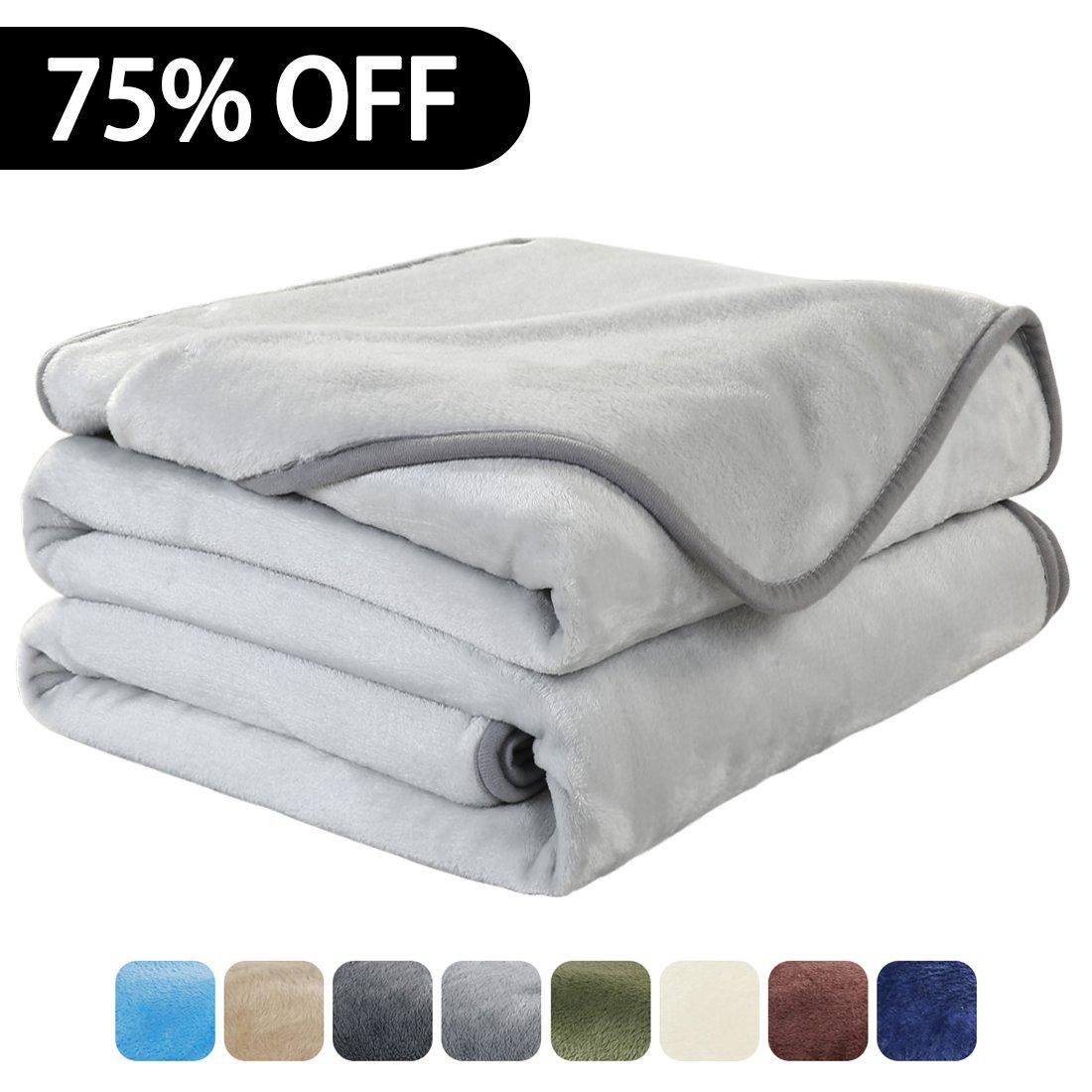 Luxury Fleece Super Soft Thermal Blanket Warm Fuzzy Microplush Lightweight Blankets for Bed Sofa
