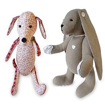 2 x Nähmuster unabhängiges Design. Dackel-Hund, 30,5 cm, mit ...