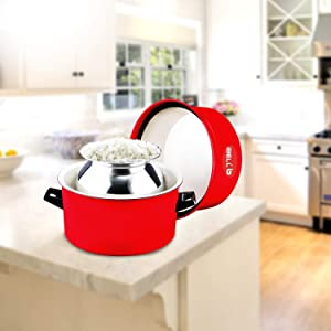 IBELL Aluminium Steam Thermal Rice Cooker, Induction Based Pot - 1.5 kg