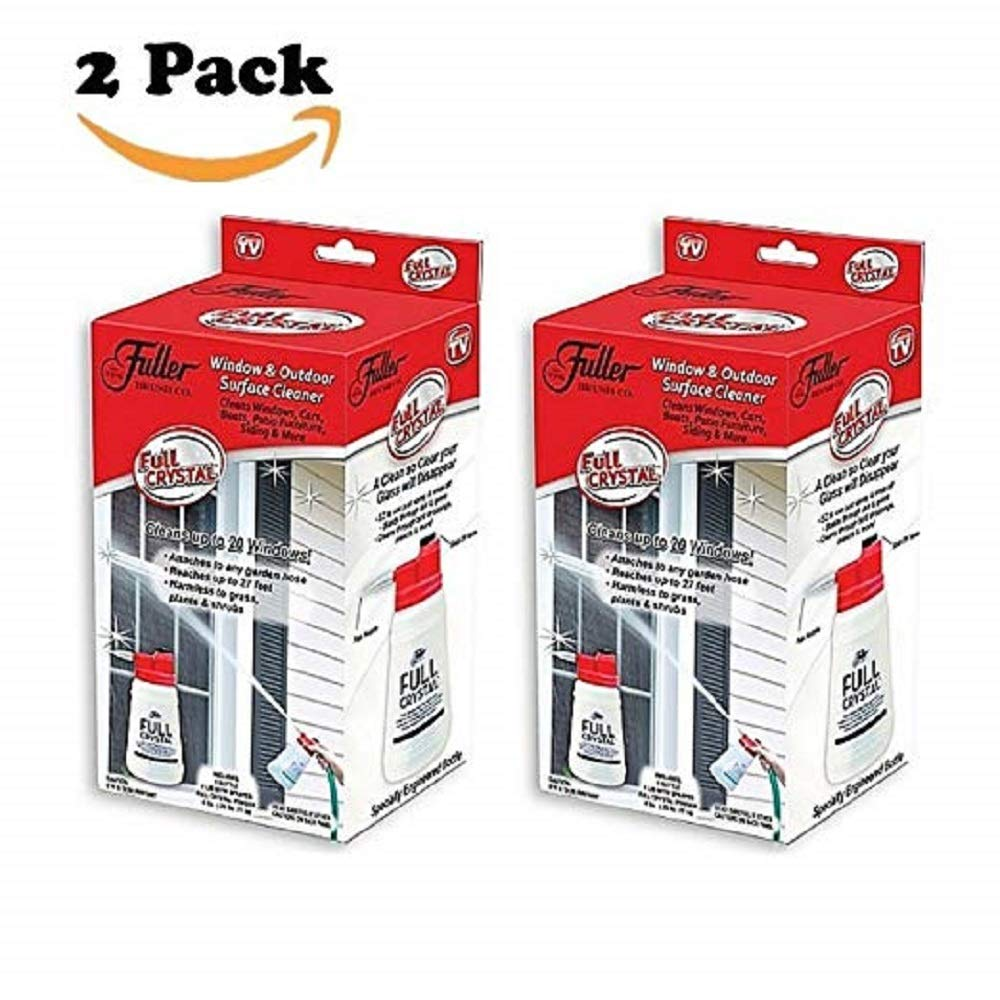 2 Pack Fuller Brush Full Crystal Refills, Full Crystal Window and All Purpose Outdoor Glass Cleaner Sparkle Multi-purpose Cleaning System for Windows and Cars,As Seen On TV