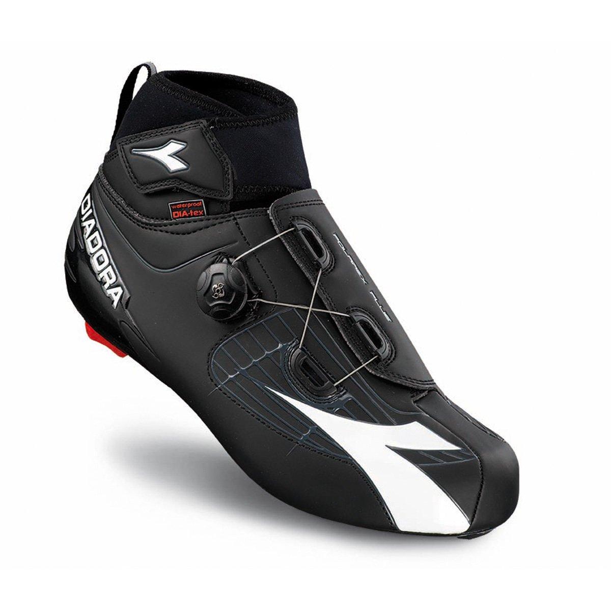 Diadora 2016メンズPolarexプラス冬道路サイクリングシューズ – 170229 45 ブラック/ホワイト B012G59EN0