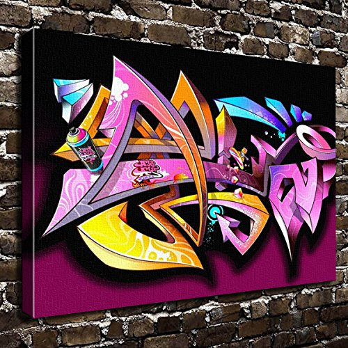 Romantic Simple COLORSFORU graffiti abstract wallpaper Custom Canvas Print 20x16 Inch Framed Home Office Wall Decor Art Print Poster Ready To Hang