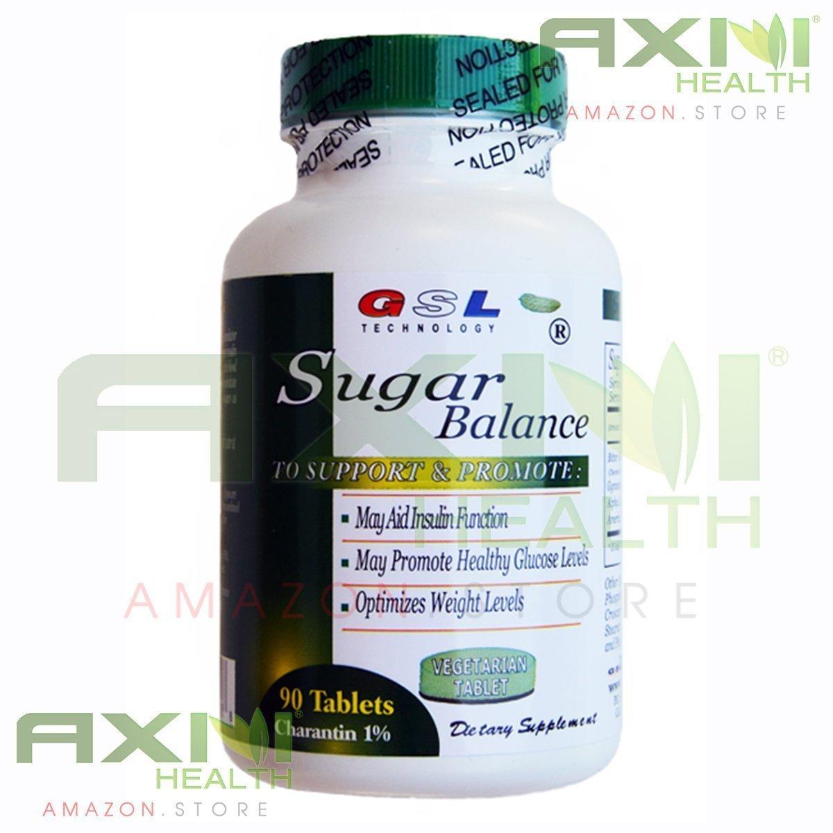 Amazon com: GSL Sugar Balance Tablets (4 Bottles Pack