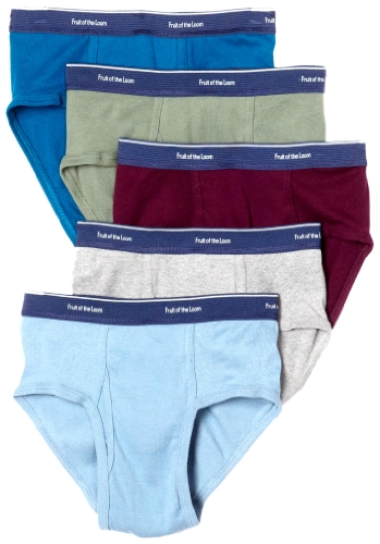 Fruit of the Loom Men's  Low Rise Brief - Colors May Vary(Pack of 5),Assorted,Large(38-40)