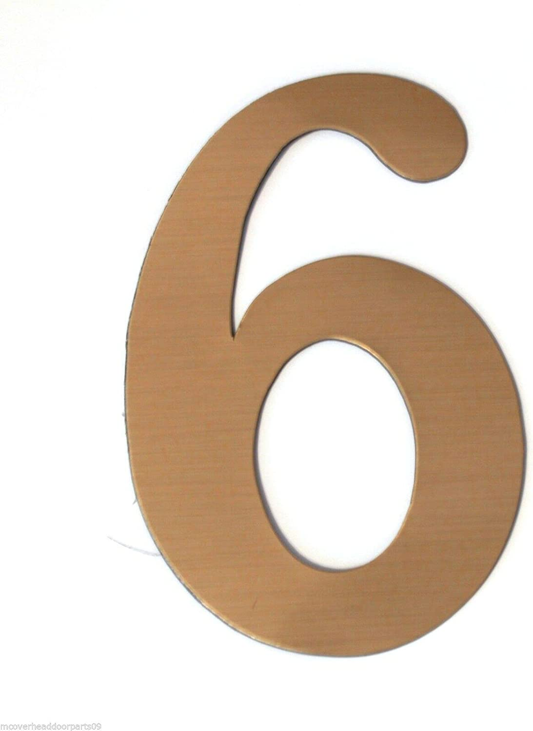 Numbers: 6 Brass Finish Magnet Magnetic House Numbers Great for Garage Doors