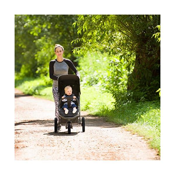 Hauck Rapid Passeggino 3 Ruote Reclinabile, Piegatura Compatta, per Bambini dalla Nascita fino a 15 kg 3 spesavip