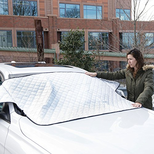 Glare Guard Premium Auto Snow Windshield Cover Snow, Ice, Sleet, Frost, Hail Protector Car Cover |...