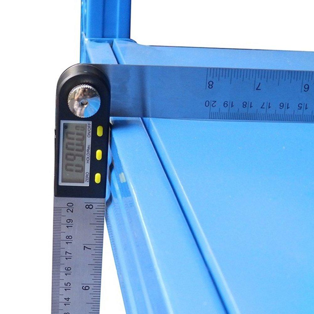 goniometro galvanometro in acciaio INOX righello Mirino angolare 2/in 1,/mirino angolare digitale