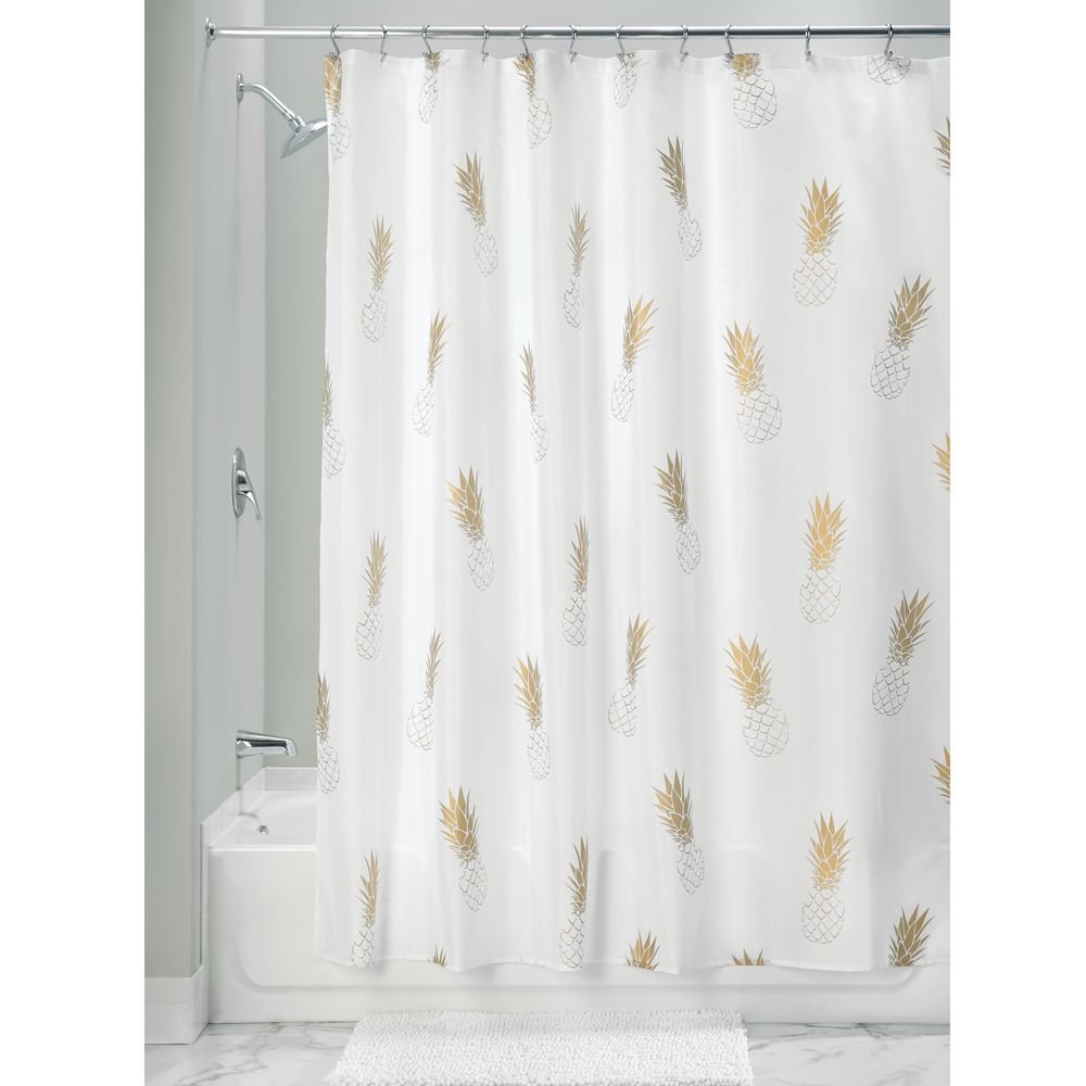 Idesign Fabric Pineapple Shower Curtain For Master Guest