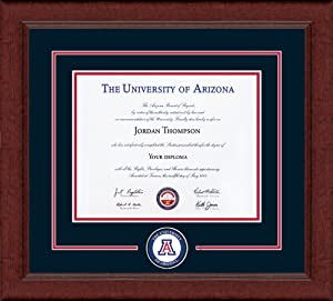 Church Hill Classics The University of Arizona - Lasting Memories Edition - Featuring Sierra Moulding - Officially Licensed - Diploma Size 11