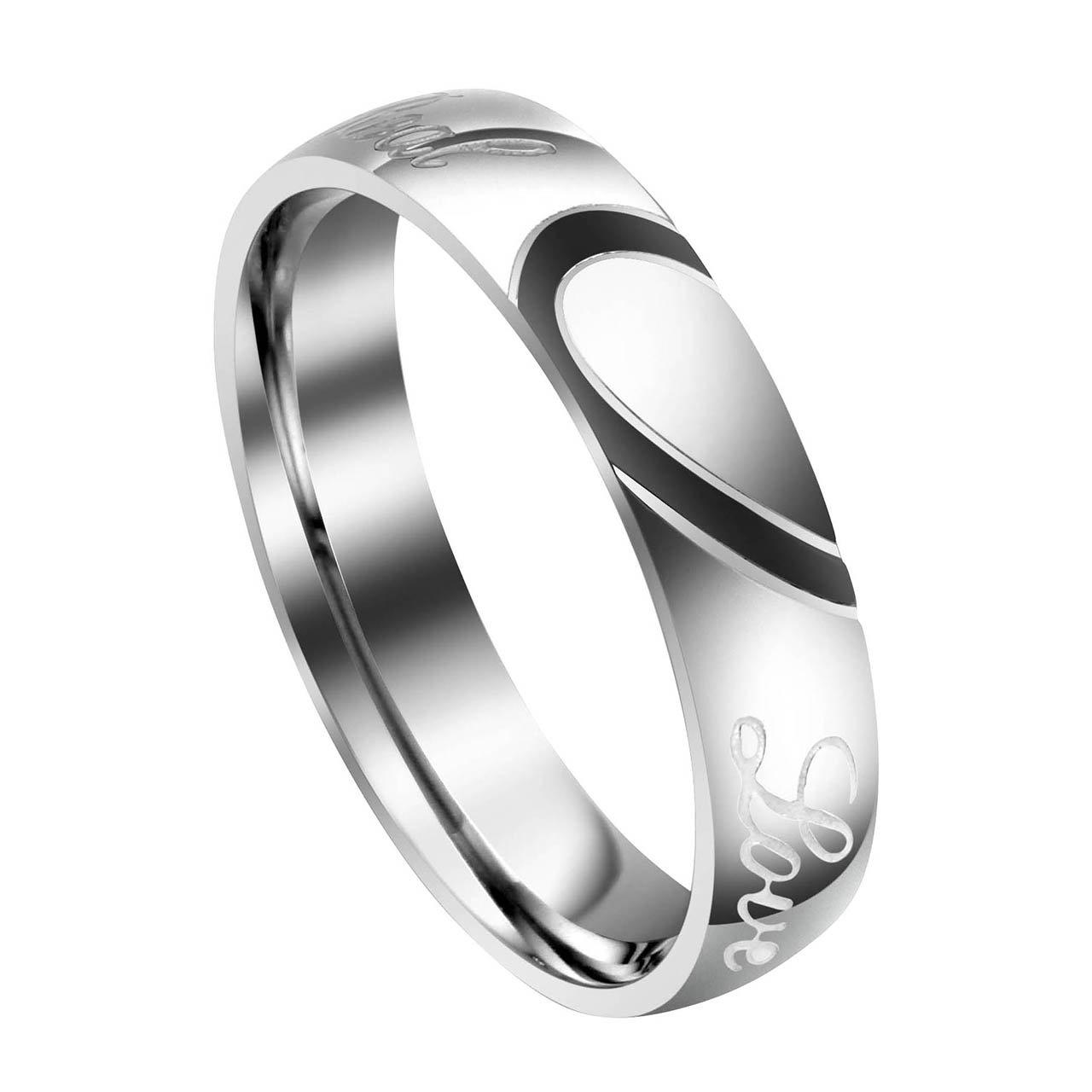 Amazon.com: Jovivi - Anillos personalizados para pareja ...