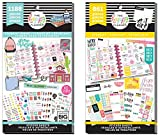 MAMBI Happy Planner Student Back to School - Student Icons and Student Get It Done - 2 Item Sticker Value Packs Bundle