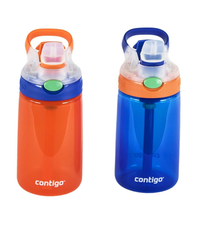 14oz Cherry Blossom//Lavender Contigo Kids Autospout Gizmo Water Bottle - 2 Pack