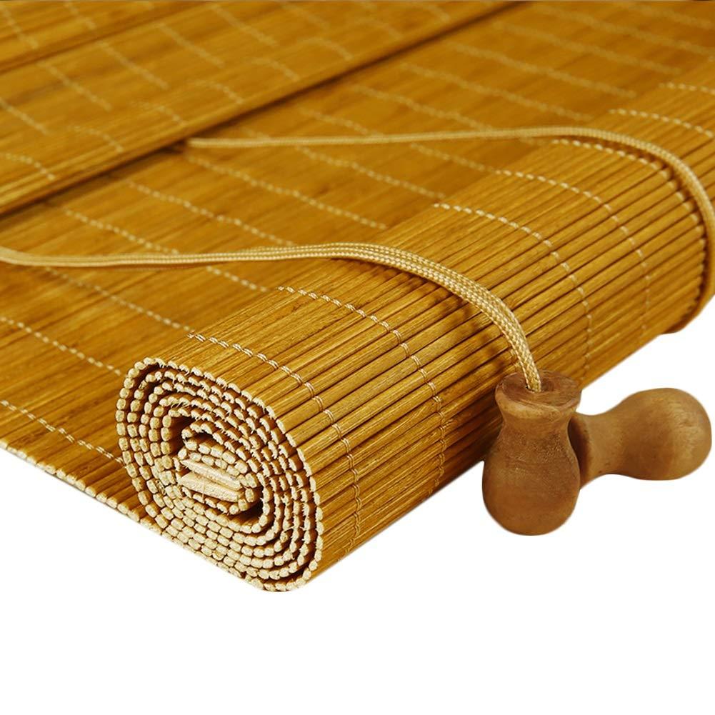 LIQICAI 竹のカーテン すだれロールアップブラインド 竹製ロールブラインド 日焼け止め 日よけ 竹のカーテン 屋外/屋内用、 カスタマイズ可能 (Size : 80X200CM) B07SN23MVV  80X200CM